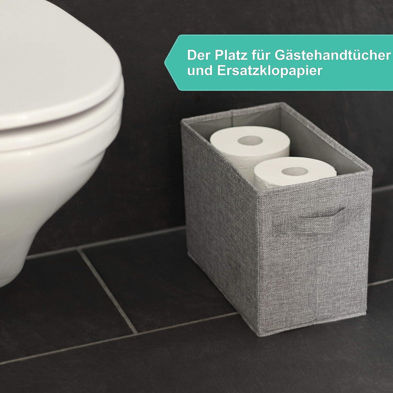 Hausfelder Jardini/ère ORDNUNGSLIEBE Bo/îte de Rangement pour Papier Pliant Magazines Serviettes Lot de 2