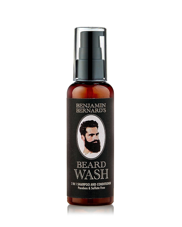 Benjamin Bernard - Champú para barba 2 en 1 - Champú y acondicionador - 100 % aceites naturales - Sin parabenos ni sulfitos - 100 ml Second Glance Beauty BEN00003