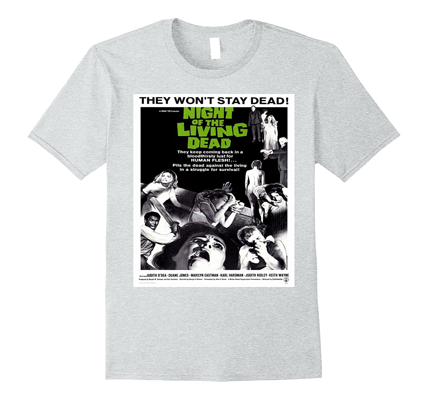 50a412d6 Night of Living Dead - Vintage Zombie Movie T Shirt-FL - Sunflowershirt