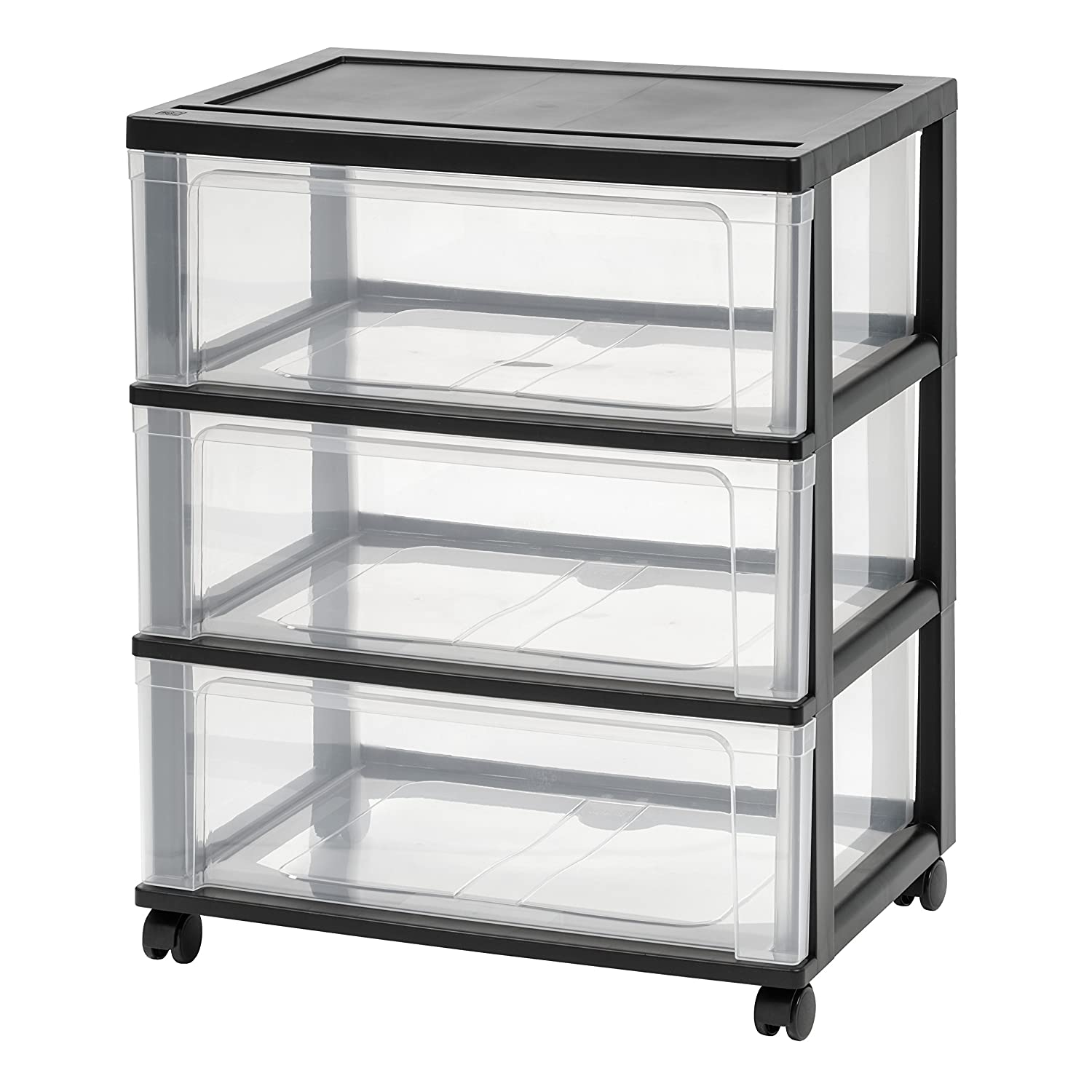 IRIS 3 Drawer Wide Chest, Black