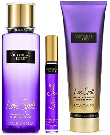 d6c4c43997725 Amazon.com : Victoria's Secret Love Spell Gift Set - Mist, Mini Mist ...