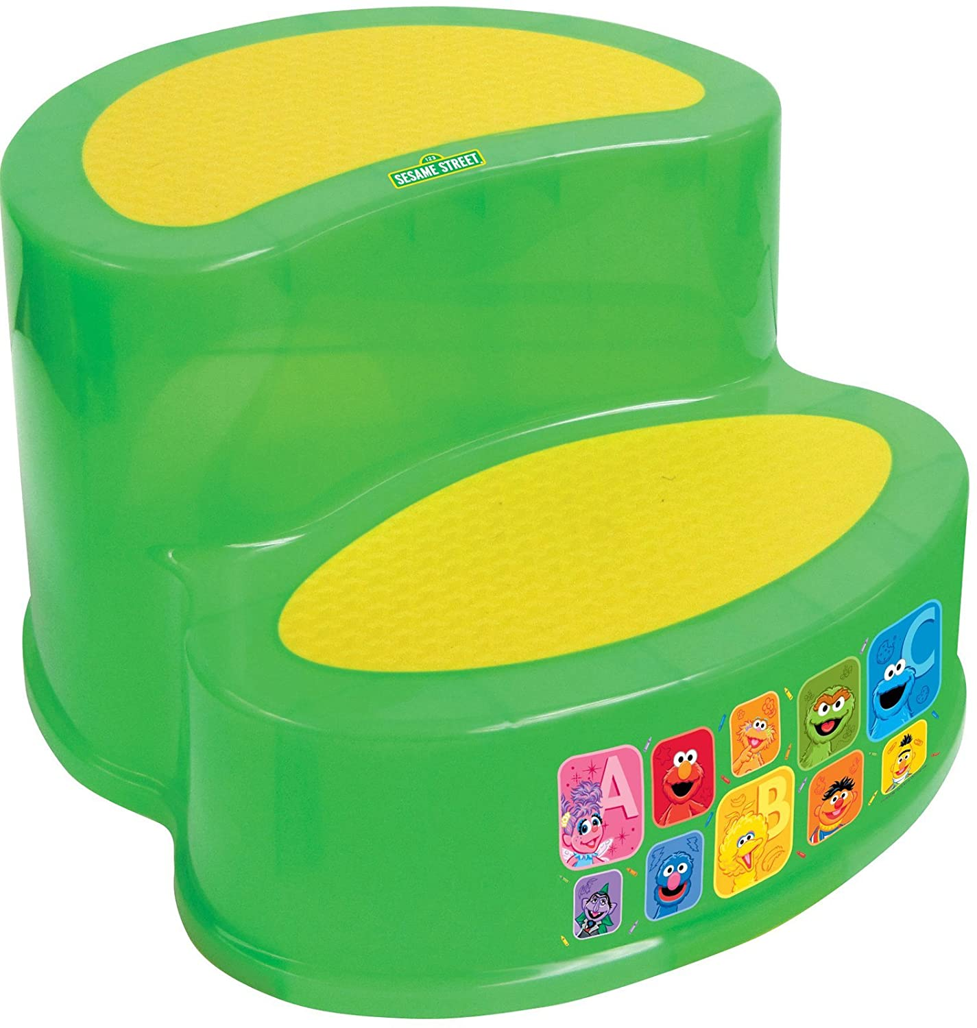 Sesame Street Two-Tier Step Stool, Green Ginsey 69132