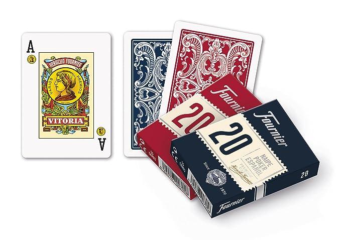 Cubierta de 55 Fournier español Poker Playing Cards Tuck Case – Baraja Poker español