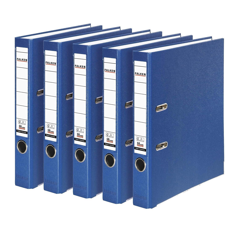Falken Carpeta de polipropileno de colores, 3 y 5 unidades, color azul 5er Pack schmal: Amazon.es: Oficina y papelería