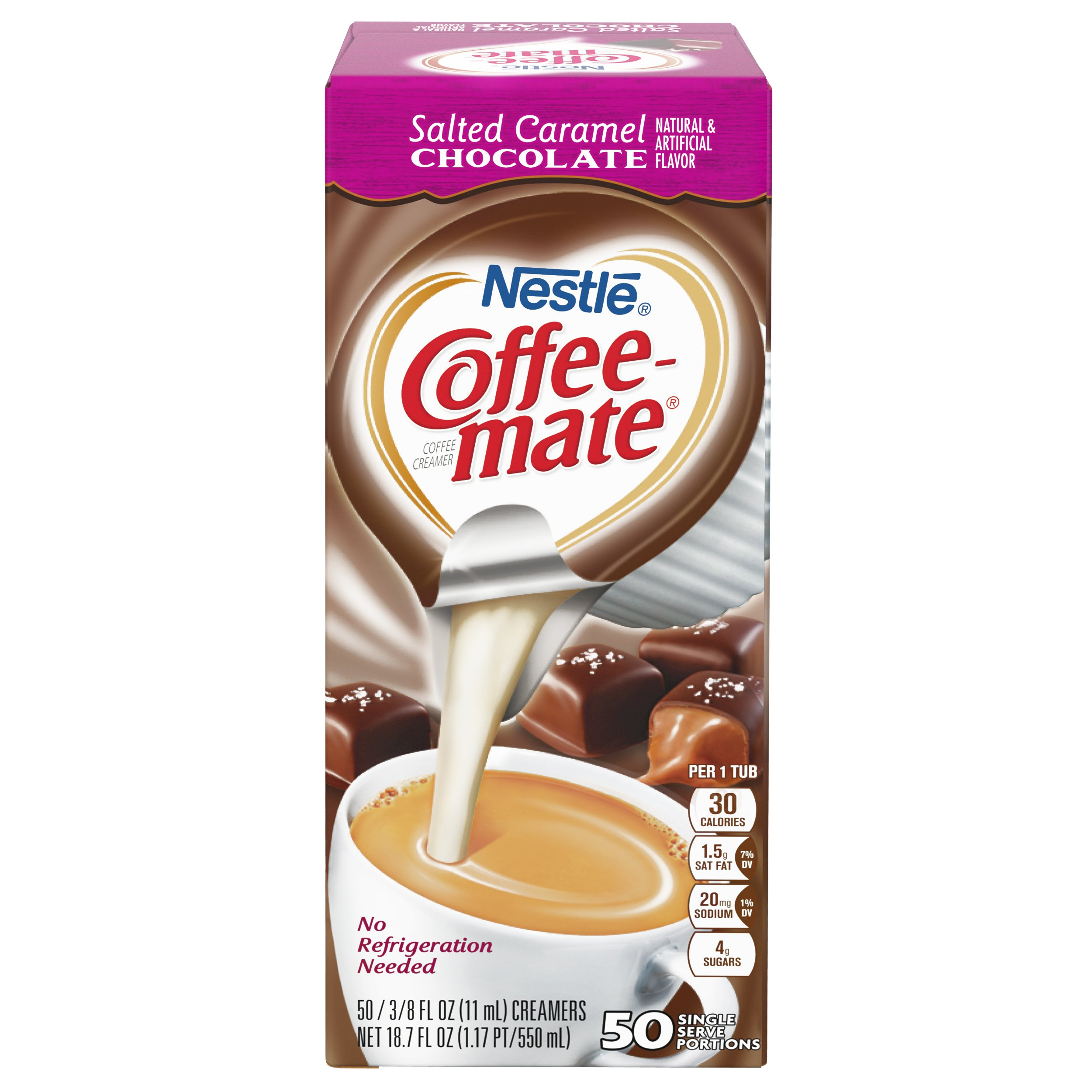NESTLE COFFEE-MATE Coffee Creamer, Salted Caramel Chocolate, liquid creamer singles, 50 Count, Pack of 4 by Nestle Coffee Mate (Image #4)