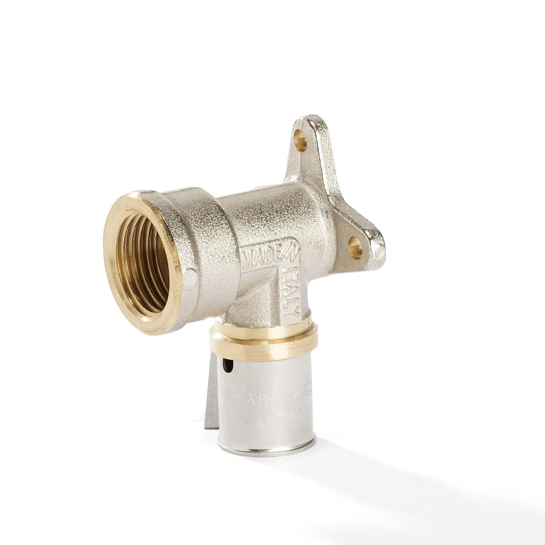 DVGW Conexi/ón en T para tubo multicapa de aluminio uni/ón prensada 16//20//26//32