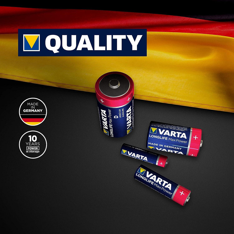 Varta Longlife Max Power Batterie Aa Mignon Lr6 Elektronik