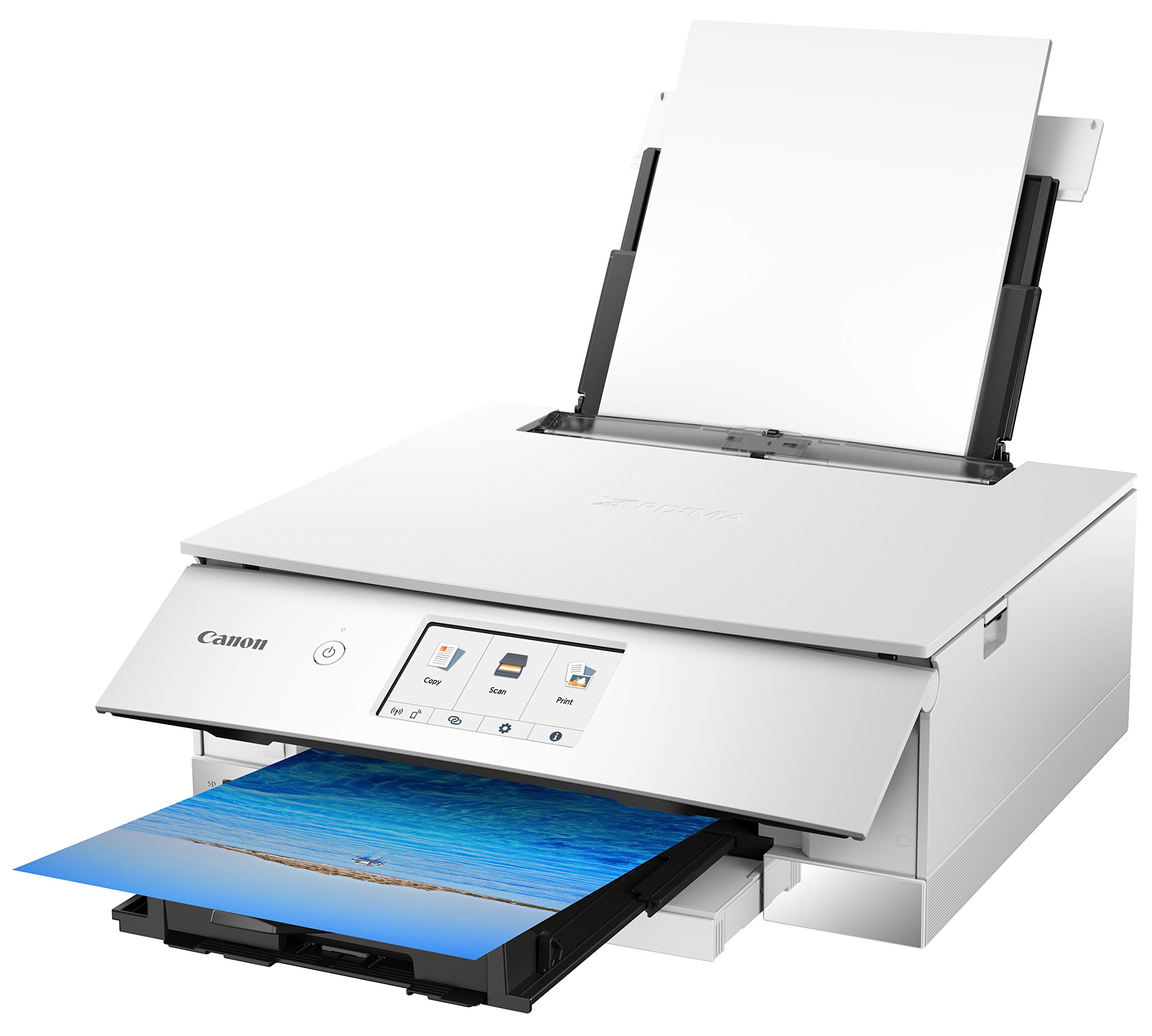 Canon TS8220 Wireless All in One Photo Printer with Scannier and Copier, Mobile Printing, White by Canon (Image #4)