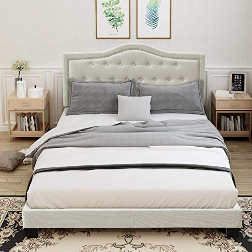 FLIEKS Upholstered Platform Bed