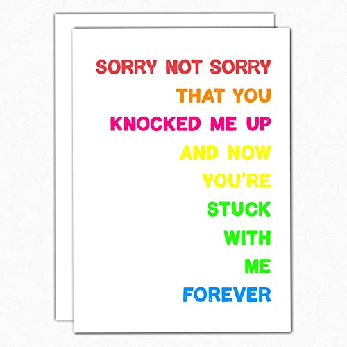 9ee6b063219ef Amazon.com: Funny Valentine's Day Card For Husband. 149 Sorry Not ...