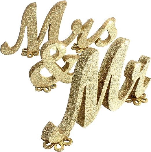 /& MRS WEDDING TABLE DECOR 8 CM MR