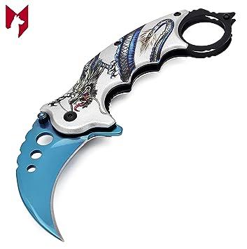 Amazon.com: Foxfend Karambit cuchillo de bolsillo plegable ...