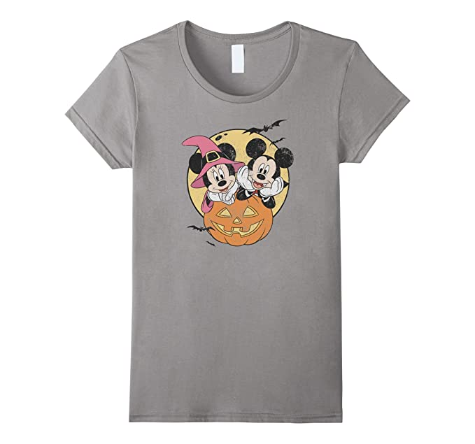 amazoncom disney mickey and minnie halloween t shirt clothing