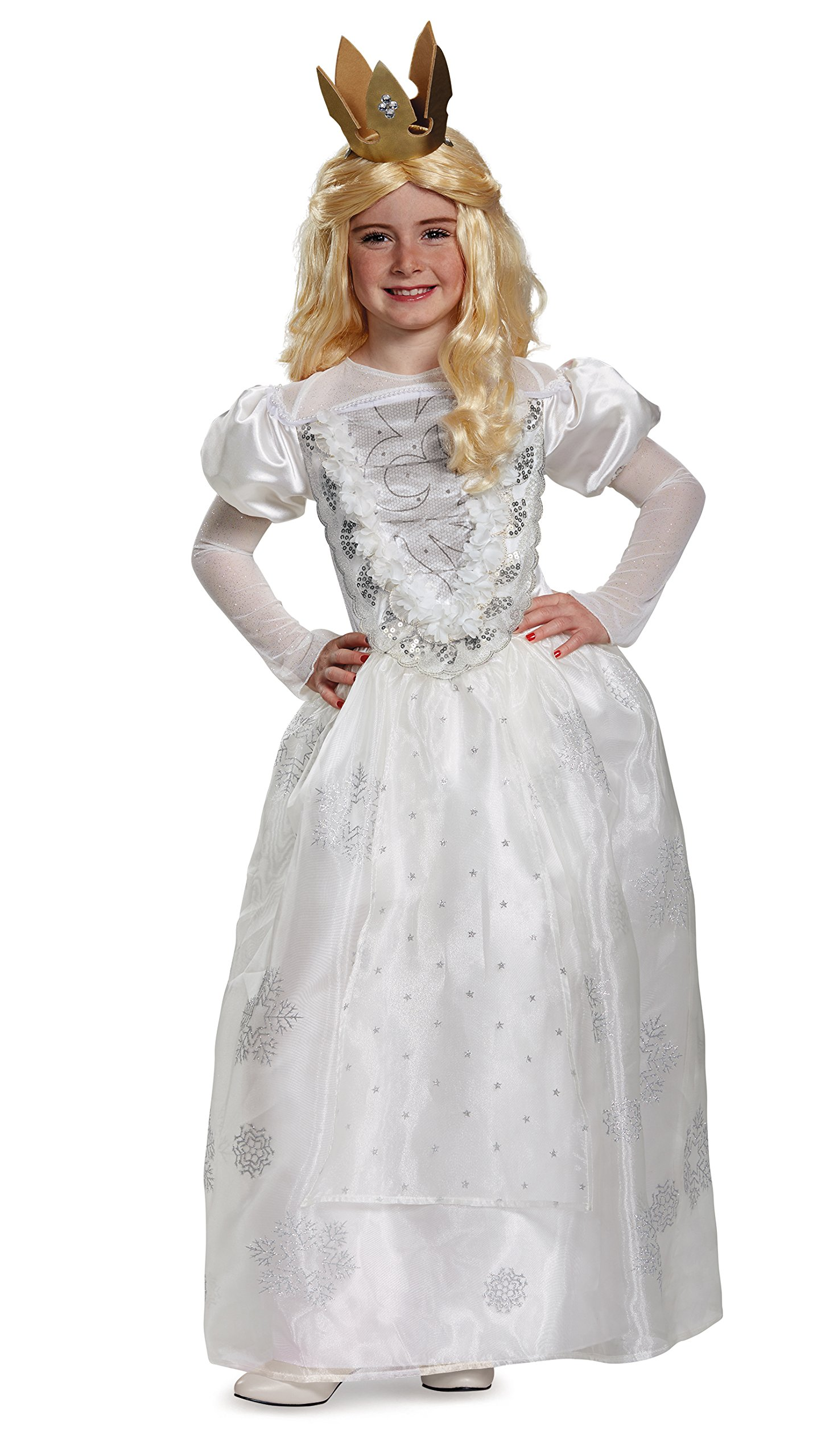White Queen Deluxe Alice Through The Looking Glass Movie Disney Costume, Small/4-6X