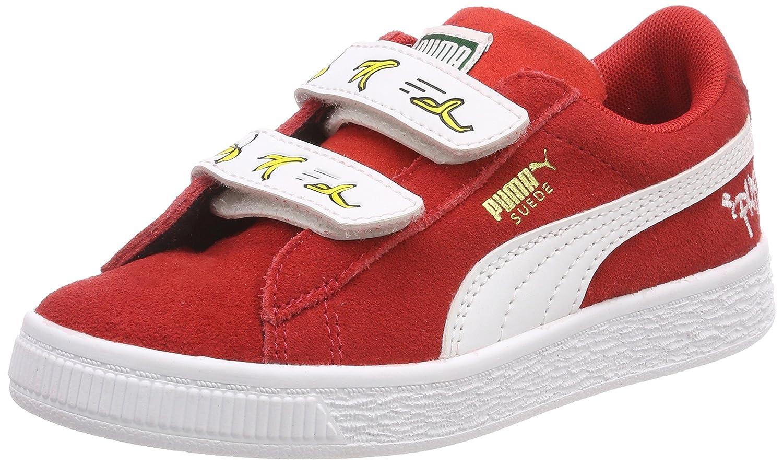 Puma Minions Suede V PS, Zapatillas Unisex Niños 35 EU|Rojo (High Risk Red-puma White)