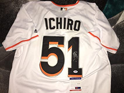 2a3c9cf34 Signed Ichiro Suzuki Jersey - Hall Of Fame 3 000 Hits - PSA DNA Certified