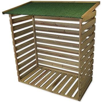 Woodside – madera tratada resistente cobertizo para leña jardín cobertizo: Amazon.es: Jardín