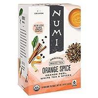 Numi Organic Tea Orange Spice, 16 Count Box of Tea Bags, White Tea (Packaging May...