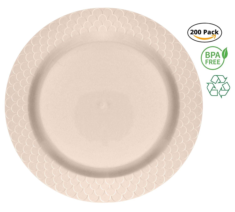 Amazon.com: Party Joy – Juego de 200 platos de plástico de ...