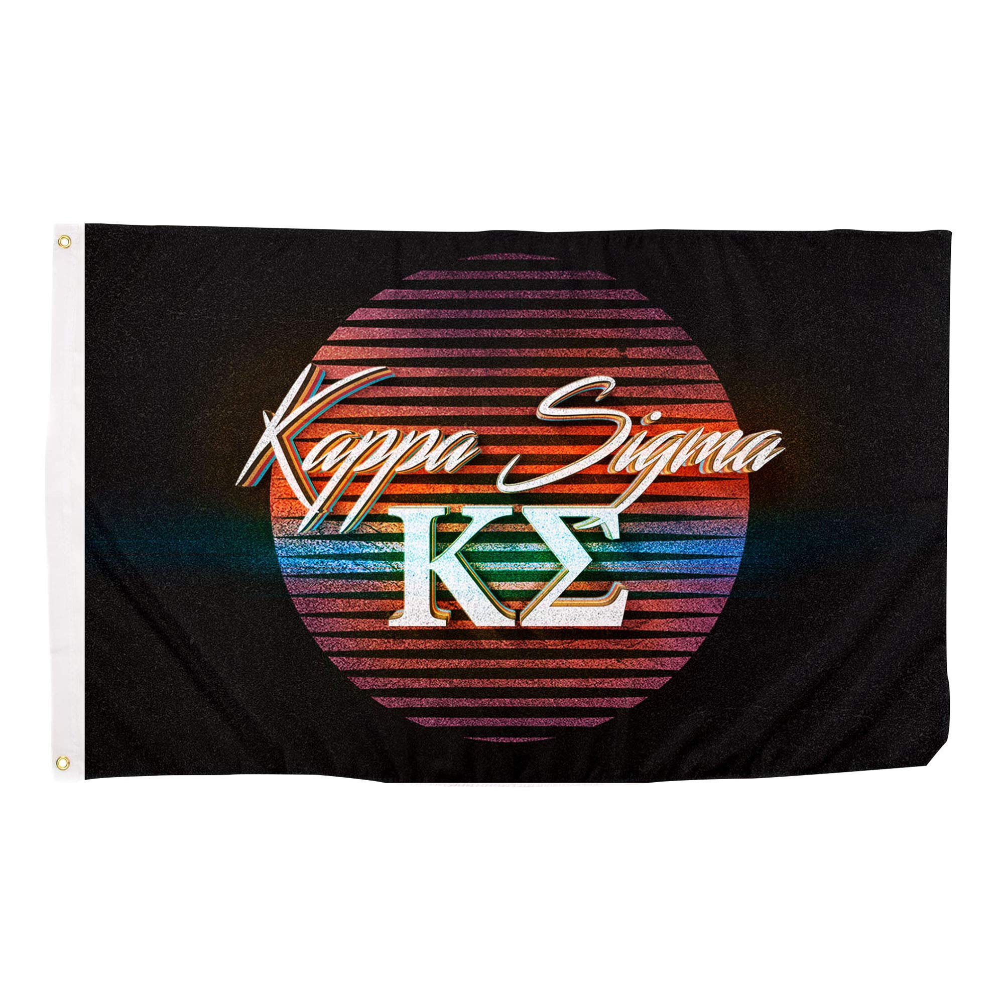 Kappa Sigma 80's Letter Fraternity Flag Banner 3 x 5 Feet Sign Decor Kappa Sig by Desert Cactus