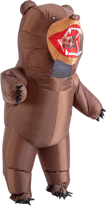 Spooktacular Creations Disfraz Inflable de Oso de Cuerpo Completo Inflable para Halloween, Disfraz Adulto, Color marrón