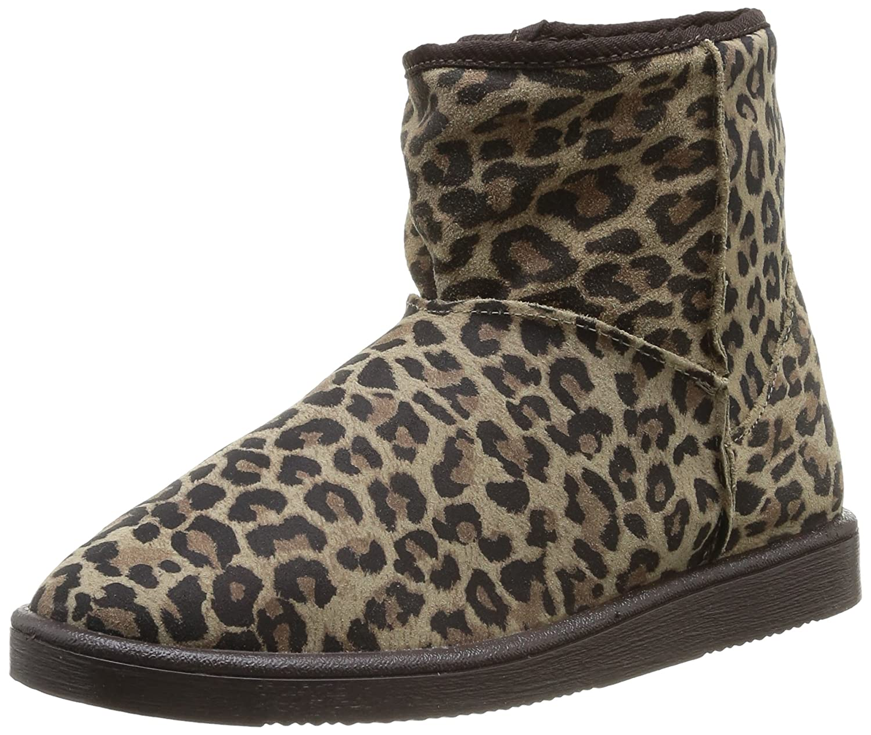 Pieces Ps Ume Suede Boot Leopard Mocca, Boots femmeNoir (Black Coffee), 36 EU