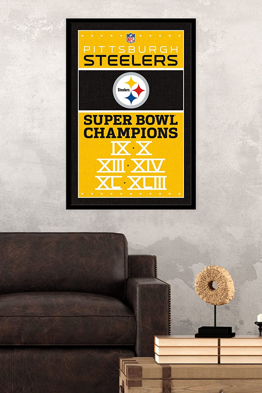 Amazon.com: Trends International Pittsburgh Steelers Champions Wall ...