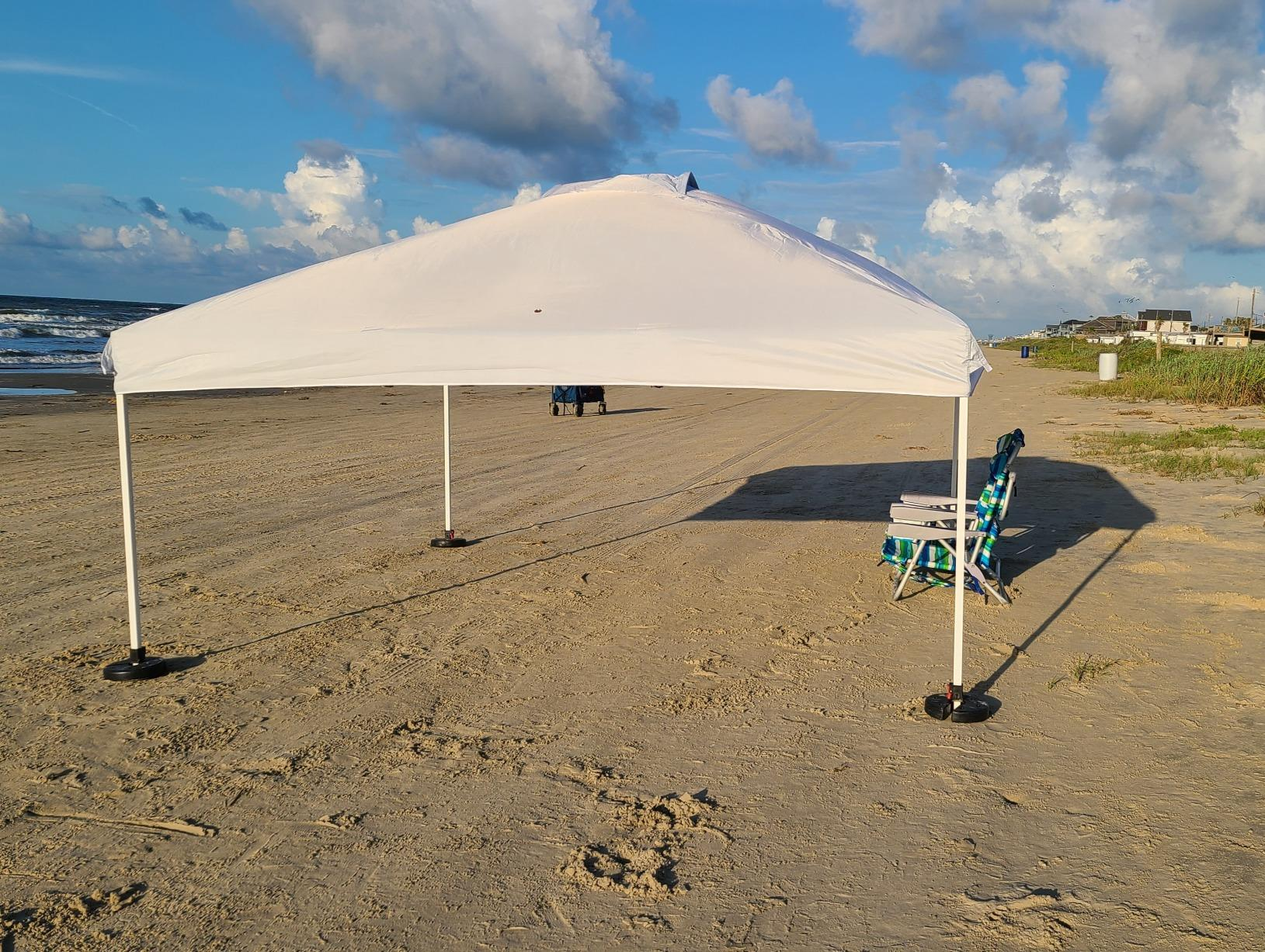 Nice C Pop Up Canopy Tent, Sun Shelter, Event Tent, Beach Shade, Sunshade Portable 10x10ft UPF 50+ with Roller Carry Bag, Steel Frame Umbrella Outdoor, Pool, Garden photo review