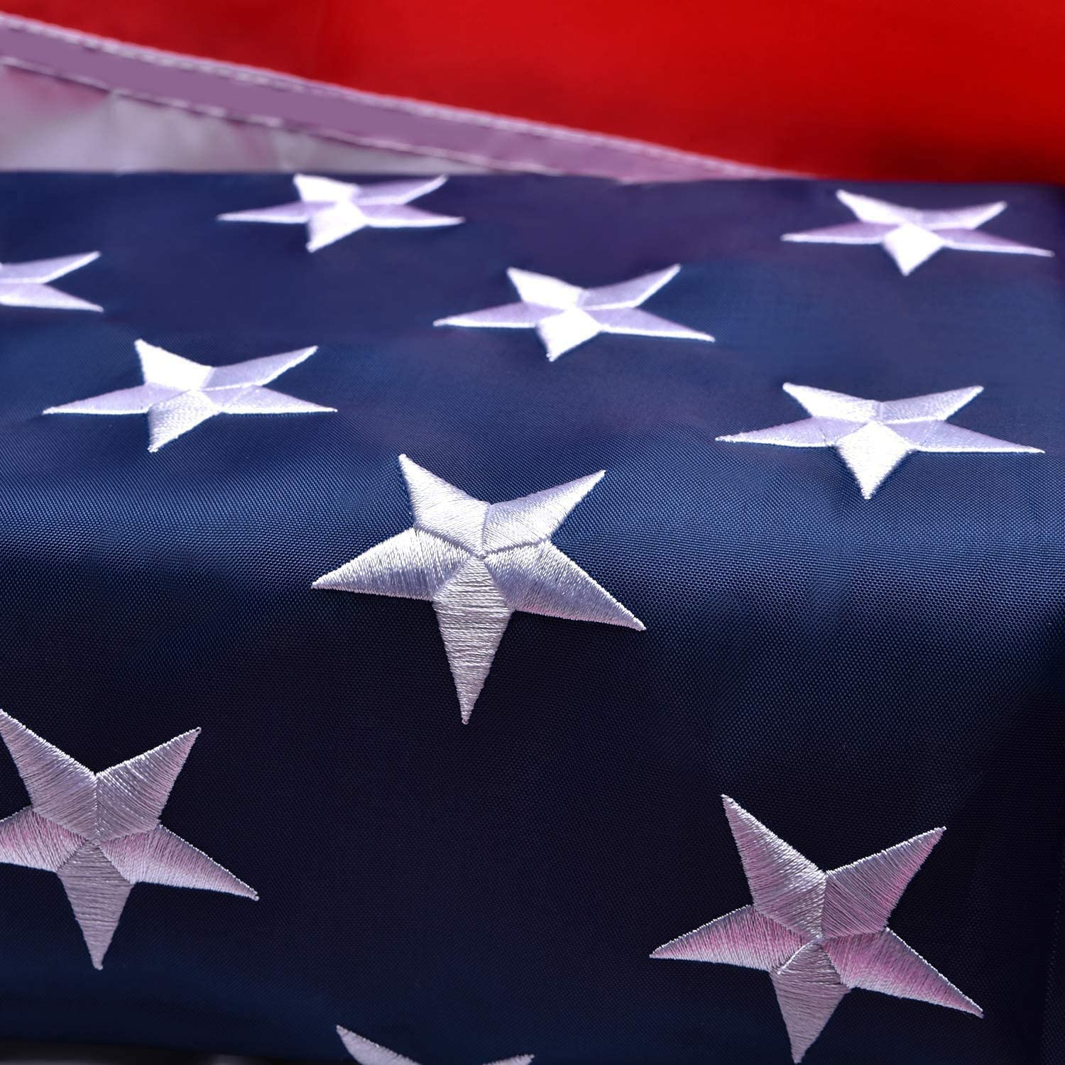 American Flag 3x5 Outdoor, Heavyweight Nylon US Flags 3x5 Outdoor, with Stitched Stripes Embroidered Stars, Brass Grommets, USA Flag Built for Outdoor Use