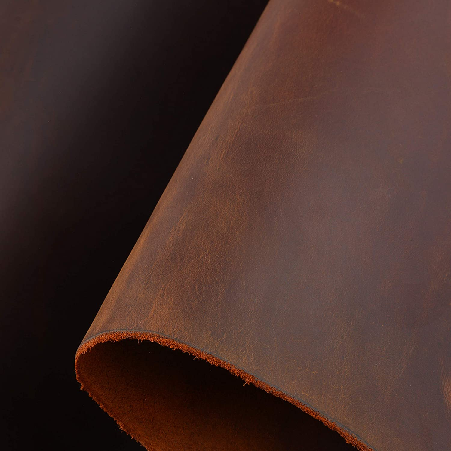 Leather Hide Cow Skins 7-8oz Heavy Weight Crafts Tooling Leather Square Genuine Leather Supplies