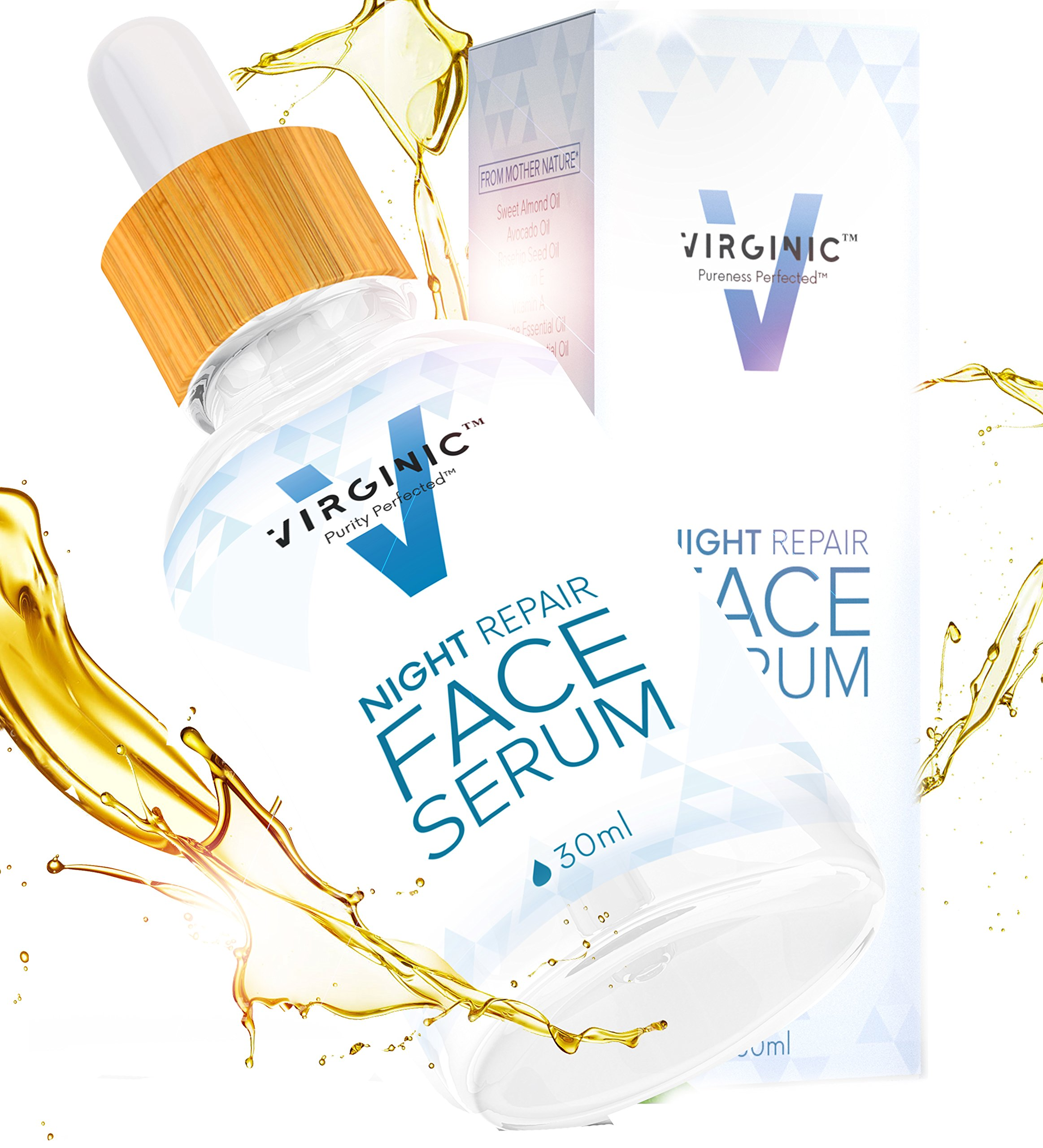 Night Face Serum Anti Aging 1 OZ With Oil Moisturizer Eye Body Best For Women Men Oily Dry Sensitive Skin Wrinkles Natural Retinol Above Organic Facial Vegan Neck Repair Cream Lotion Acne Collagen