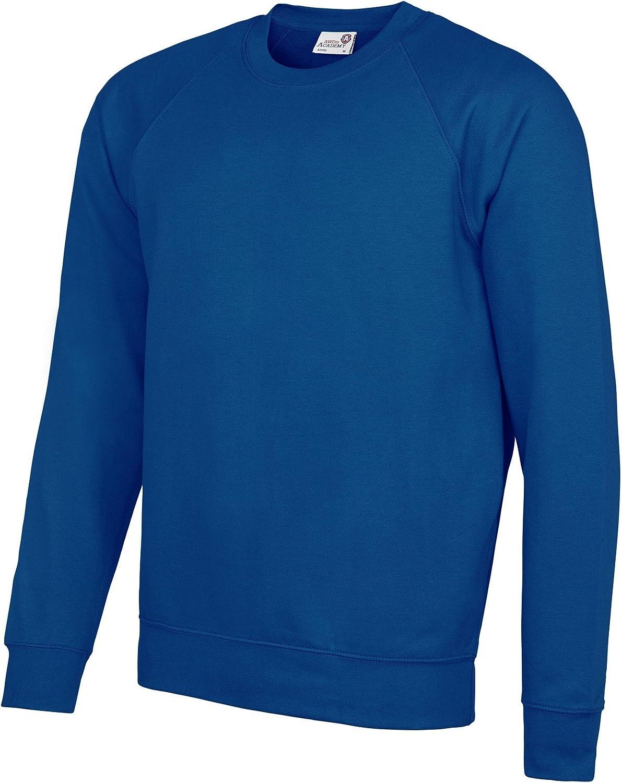L AWDis Academy Childrens//Kids Crew Neck Raglan School Sweatshirt Deep Royal