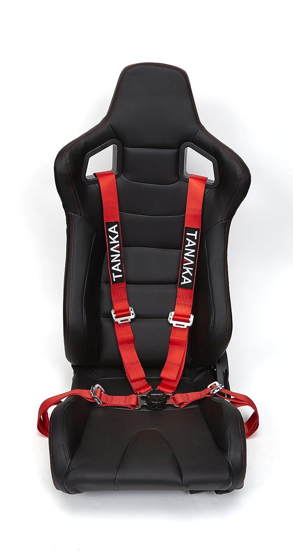 Amazon.com: Tanaka Red 4-point Camlock Racing Harness Seat Belt One
