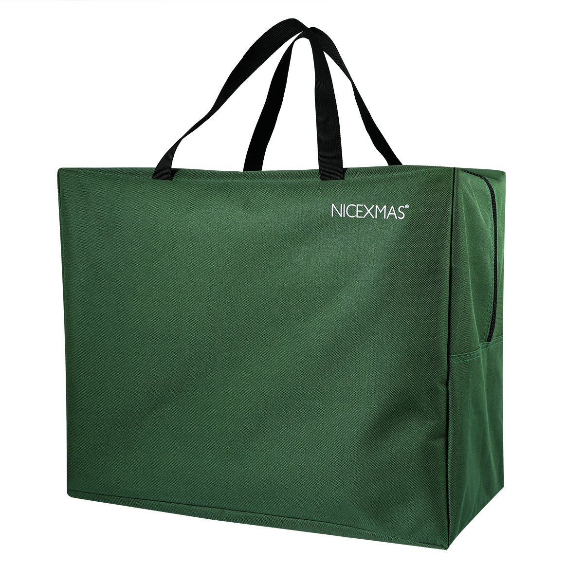 Christmas Tree Storage Bag Jumbo Storage Bags with Carry Handle for Christmas Ornament Wreath Baubles Lights (green, 462538CM)