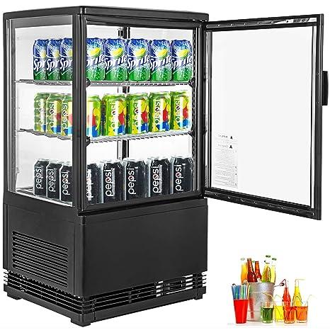 VBENLEM 2 cu. ft.(58L) Comercial Bebida Refrigerador Puerta de ...