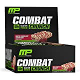 MusclePharm Combat Crunch Protein Bar, White Chocolate Raspberry, 12 Bars