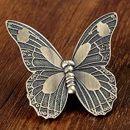 Mercury Group Antique Retro Vintage Pulls Knobs Butterfly Handles