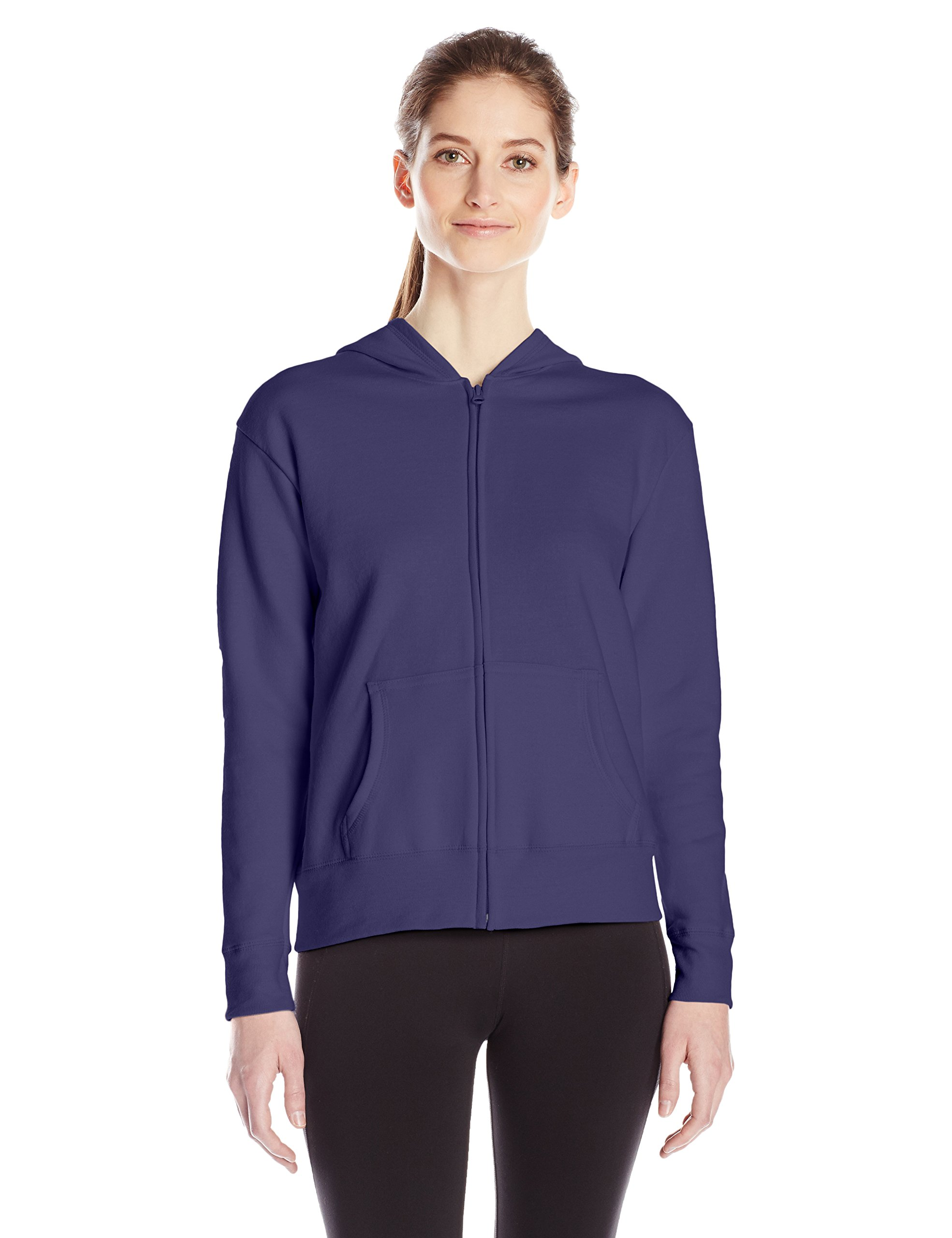 Hanes Women's Full Zip Hood, Navy, Medium