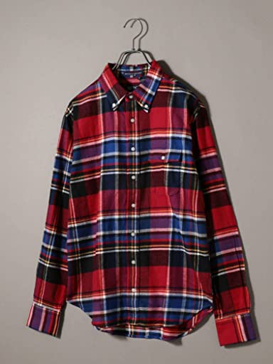 Flannel Buttondown Shirt 121-13-0082: Red