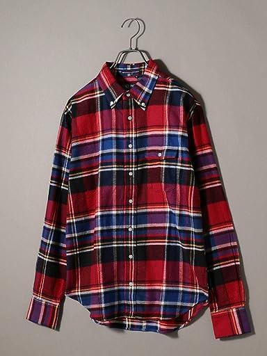 Flannel Buttondown Shirt 121-13-0082: Red
