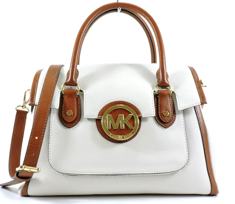 aeb3204cf6af82 ... authentic michael kors margo leather large shoulder satchel vanilla  luggage handbags amazon 6b930 f2795