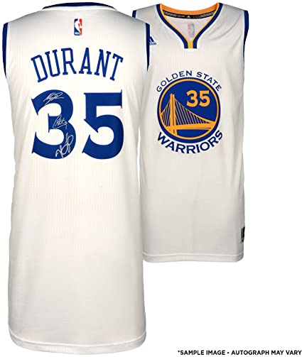 90e211b8823 Stephen Curry, Klay Thompson, Kevin Durant Golden State Warriors  Autographed 2017 NBA Champions White