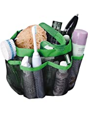 Attmu Mesh Shower Caddy, Quick Dry Shower Tote Bag Oxford Hanging Toiletry and Bath Organizer with 8 Storage Compartments for Shampoo, Conditioner, Soap and Other Bathroom Accessories