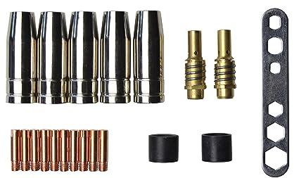 MIG /MAG Juego de piezas de desgaste adecuado para MB15 | 20 Piezas | 5 x ...