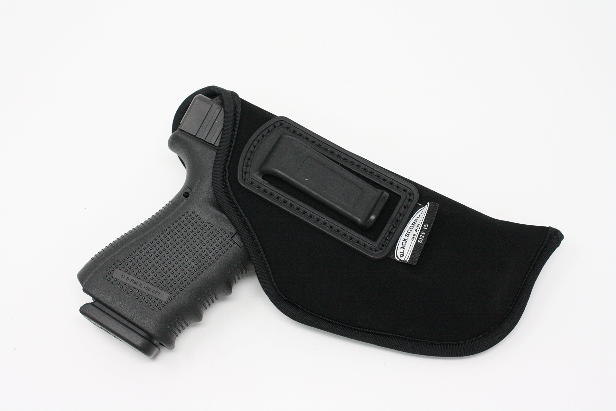 IWB Gun Holster by Black Scorpion - Neoprene Concealed Carry Soft Material | FITS Glock 17/21, H &K,Beretta 92 FS,XDM,Ruger 45 BERSA Pro,PX4,FNX 45,FNH 45,HI Point 9/40/45 MM (Right)