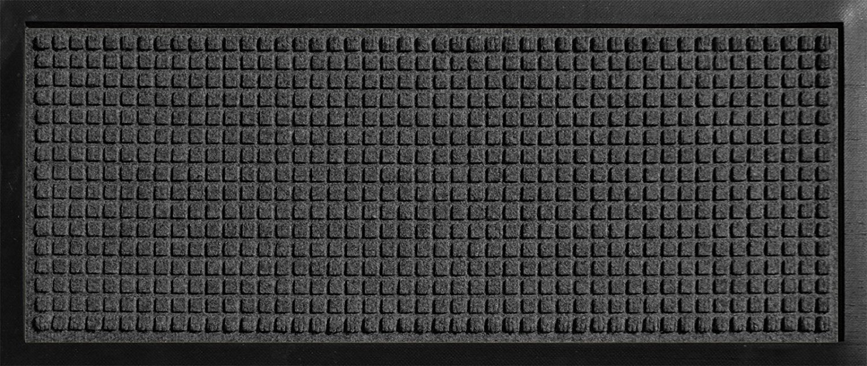 Hudson Exchange 4004 Waterhog Classic Boot Tray Mat, 34'' L x 15'' W, 3/8'' Thick, Charcoal