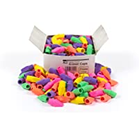 Charles Leonard Eraser Caps, Latex Free, Assorted Colors, 144/Box (71544)