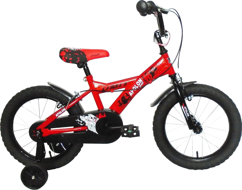 Umit J1650 Bicicleta Infantil, Niños, Rojo/Negro, 16