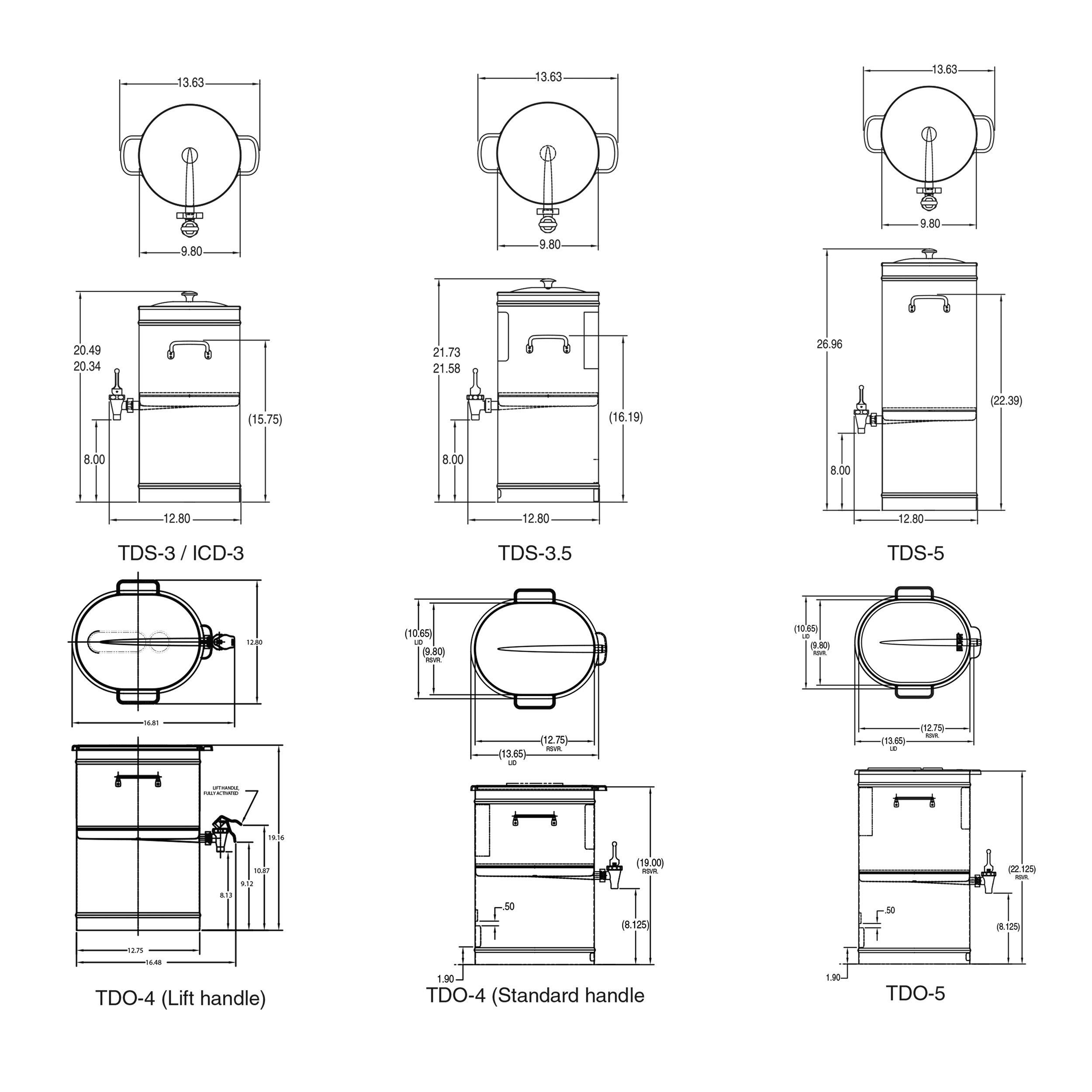 BUNN TDO-4 Commercial Iced Tea Dispenser w/Solid Lid, Oval by BUNN (Image #3)