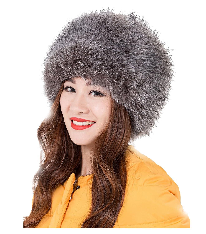 Jelinda® Super Warme Frauen Mütze Faux Fellmütze Pelzmütze Wintermütze Damenmütze Russenmütze Fliegermützen
